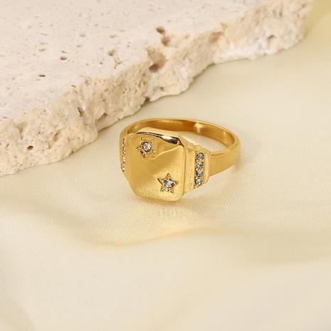 Vente en gros bijoux bague en acier titane étoile diamant Nihaojewelry NHJIE383044's discount tags