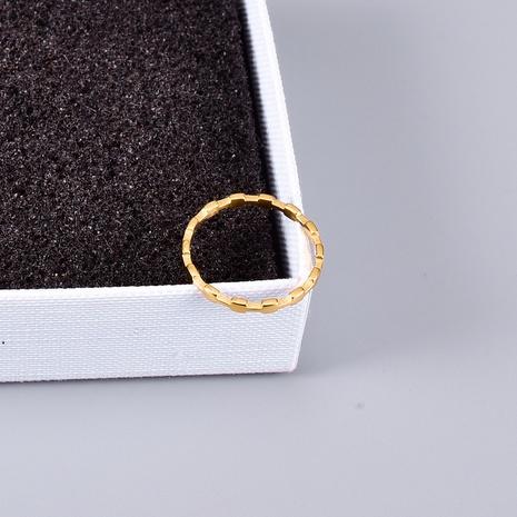 vente en gros bijoux petite bague en acier titane bambou carré Nihaojewelry NHAB383108's discount tags