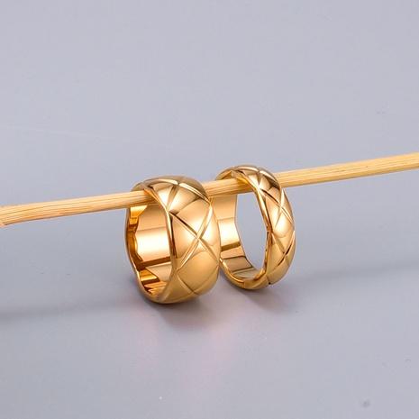 Vente en gros bijoux bague en acier titane treillis croix diamant Nihaojewelry NHAB383114's discount tags