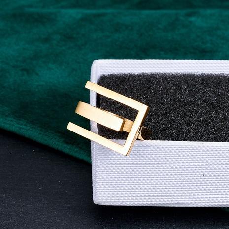 vente en gros bijoux bague en acier au titane en forme de E rétro mat Nihaojewelry NHAB383115's discount tags