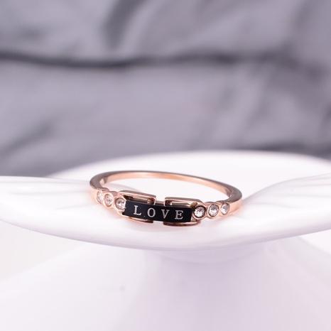 vente en gros bijoux série coeur bague en acier au titane Nihaojewelry NHAB383116's discount tags