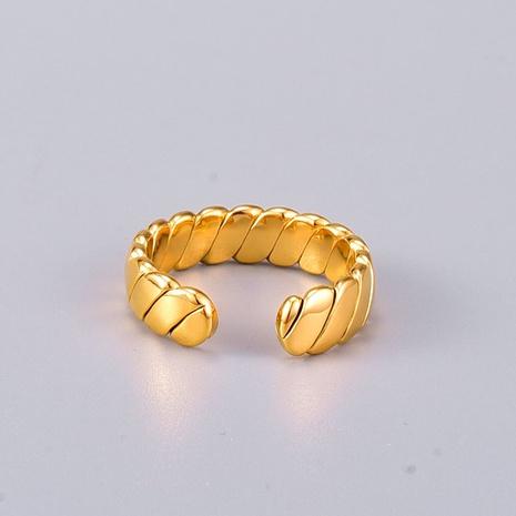 Vente en gros bijoux bague torsadée ouverte en acier au titane Nihaojewelry NHAB383118's discount tags