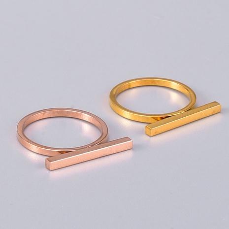 wholesale jewelry Simple Cuboid Crossbar Titanium Steel Ring Nihaojewelry NHAB383120's discount tags
