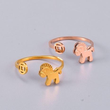 Bijoux en gros Bague Poney Acier Titane Nihaojewelry NHAB383121's discount tags