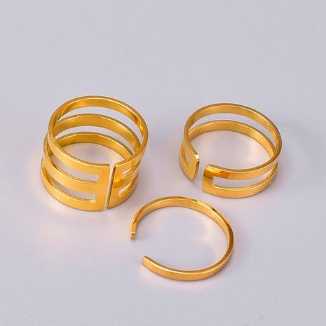 Bijoux en gros Bague ouverte multi-cercles en acier titane simple Nihaojewelry NHAB383122's discount tags