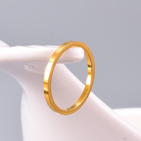 vente en gros bijoux bague en acier titane brillant mince Nihaojewelry NHAB383123's discount tags