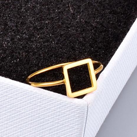 vente en gros bijoux creux carré mince bague en acier titane Nihaojewelry NHAB383124's discount tags