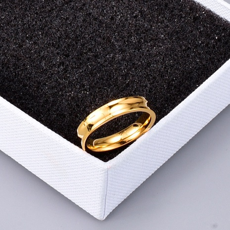 vente en gros bijoux bague concave brillante épaisse bague en acier au titane Nihaojewelry NHAB383128's discount tags