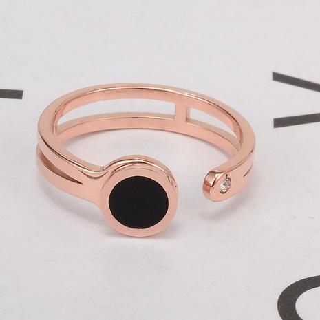 Bijoux en gros Simple Disque Titane Acier Anneau Ouvert Nihaojewelry NHAB383129's discount tags