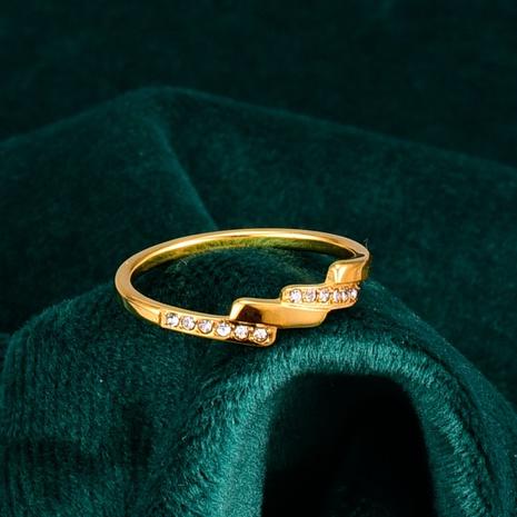vente en gros bijoux bague trapézoïdale irrégulière en acier au titane Nihaojewelry NHAB383130's discount tags