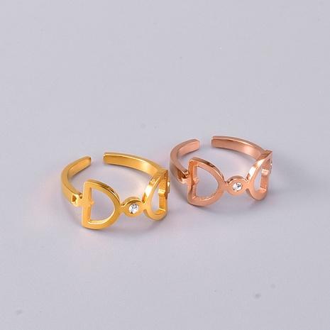 Vente en gros bijoux bague en acier titane arc creux Nihaojewelry NHAB383131's discount tags