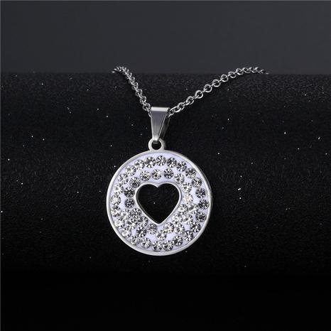 wholesale bijoux simple pendentif rond en forme de coeur creux nihaojewelry NHAC383138's discount tags