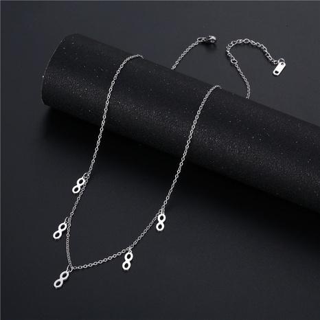 vente en gros bijoux rétro 8 forme gland collier en acier inoxydable nihaojewelry NHAC383153's discount tags