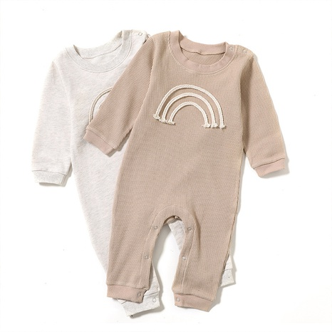 Nihaojewelry wholesale new simple rainbow solid color baby one-piece romper  NHWU384551's discount tags