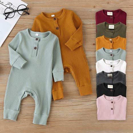 Nihaojewelry venta al por mayor nuevos onesies de bebé de color sólido de algodón rayado NHWU384539's discount tags