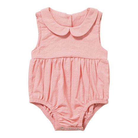 Nihaojewelry wholesale new solid color sleeveless newborn one-piece baby crawling clothes NHWU384538's discount tags