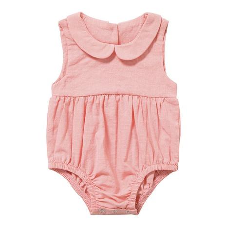 Nihaojewelry venta al por mayor nuevo color sólido sin mangas recién nacido de una sola pieza ropa para gatear para bebés NHWU384538's discount tags