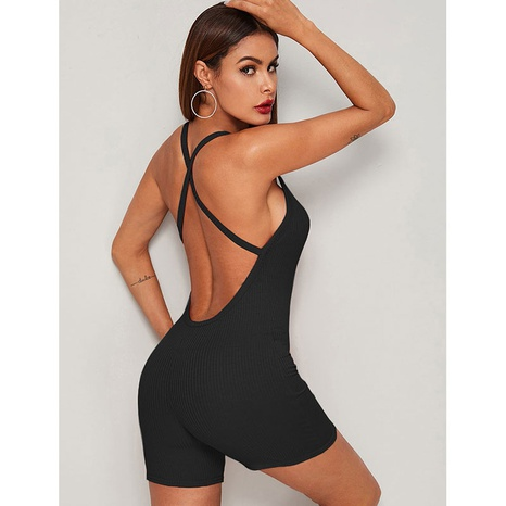Nihaojewelry moda sexy halter cross thread jumpsuit al por mayor NHJG383369's discount tags