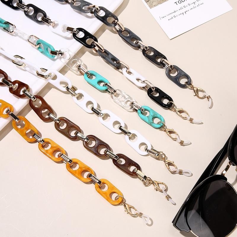 Nihaojewelry retro double hole acrylic mask glasses chain lanyard wholesale jewelry NHCL383434