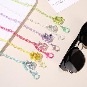 Nihaojewelry Cartoon Children's Transparent Bear Mask Glasses Chain Wholesale Jewelry  NHCL383436
