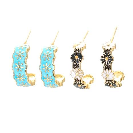Nihaojewelry koreanische Art kleine Gänseblümchenblume Ohrringe Großhandel Schmuck NHWG383517's discount tags