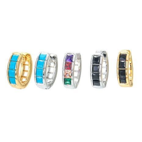 Nihaojewelry einfache geometrische eingelegte quadratische Zirkonohrringe Großhandel Schmuck NHWG383519's discount tags