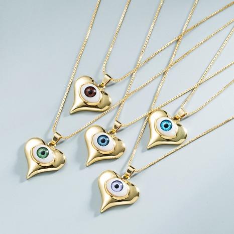 Großhandel Schmuck Dämon Auge Kupfer eingelegte Zirkon Halskette Nihaojewelry NHYIS383569's discount tags