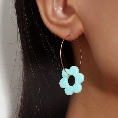 Nihaojewelry Korean style geometric flower acrylic earrings wholesale jewelry NHDP383652's discount tags