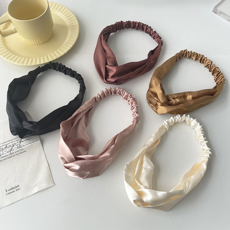 Nihaojewelry estilo coreano color sólido cruz elástica diadema joyería al por mayor NHOF383703's discount tags