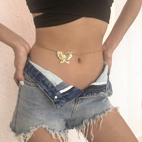 wholesale jewelry hollow butterfly waist chain Nihaojewelry NHMD383722's discount tags