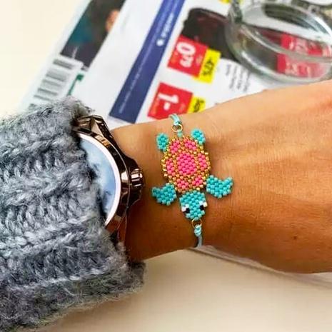 Nihaojewelry wholesale jewelry simple sea turtle Miyuki beads hand-woven watermelon children's bracelet NHGW383937's discount tags