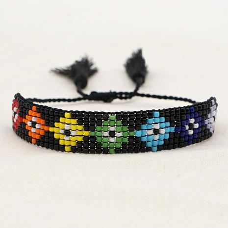 Nihaojewelry Wholesale Jewelry Ethnic Style Hand-woven Devil Eyes Beaded Couple Bracelet NHGW383941's discount tags