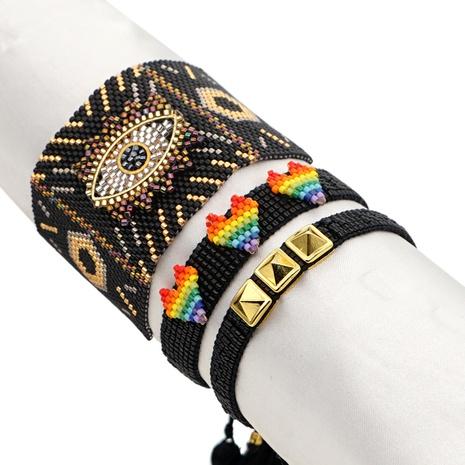 Nihaojewelry wholesale jewelry ethnic style rivet Miyuki beads lucky eye bracelet  NHGW383943's discount tags
