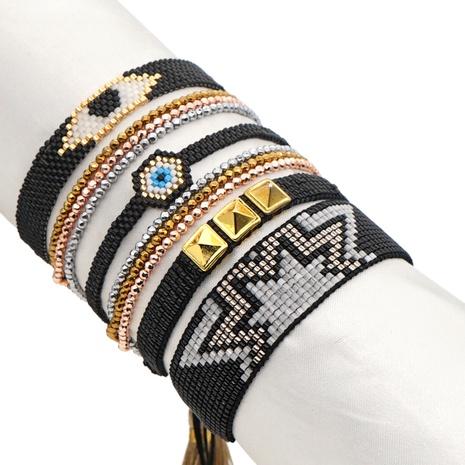 Nihaojewelry wholesale jewelry fashion Miyuki beads hand-woven lucky eyes multi-layered bracelet  NHGW383945's discount tags