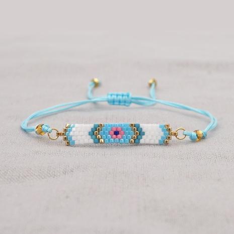 Nihaojewelry wholesale jewelry simple Miyuki beads hand-woven blue eyes couple bracelet NHGW383948's discount tags
