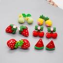 Nihaojewelry cute fruit irregular resin earrings wholesale jewelry NHGO383958