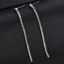 Nihaojewelry simple diamond tassel long earrings wholesale jewelry NHHF384044