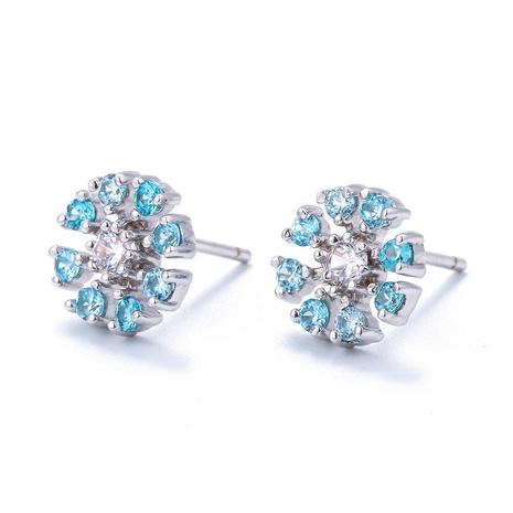 Nihaojewelry Großhandel Schmuck Korean s925 Silber kleine Gänseblümchen-Blumen-Ohrstecker stud NHWG383502's discount tags