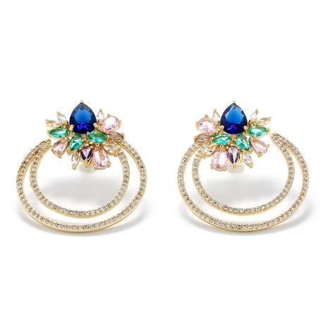 Nihaojewelry wholesale jewelry simple geometric C-shaped pearl copper zircon stud earrings  NHWG383501's discount tags