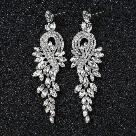 Großhandel lange Kristallohrringe Brauthochzeitsohrringe zeigen Geburtstagsessen Ohrringe NHQIY384188's discount tags