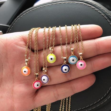 Wholesale Water Drop Necklace Drop Oil Eye Copper Demon Eye Pendant Jewelry Nihaojewelry NHQIY384196's discount tags