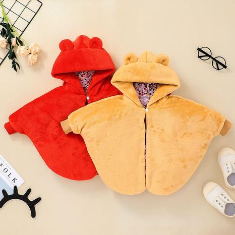 Nihaojewelry venta al por mayor nueva capa de bebé chaqueta gruesa con cremallera de color sólido NHLF384472's discount tags