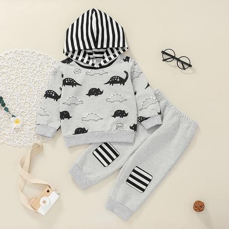 Nihaojewelry suéteres de dibujos animados con capucha para niños pantalones conjunto de dos piezas al por mayor NHLF384477's discount tags