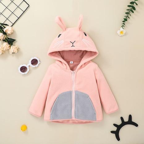 Chaqueta con capucha con cremallera de conejo lindo de Nihaojewelry al por mayor NHLF384475's discount tags