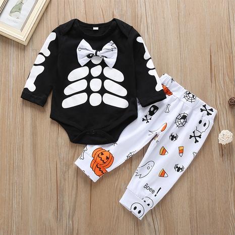wholesale traje de una pieza de manga larga con lazo de hueso de Halloween de dibujos animados nihaojewelry NHLF384483's discount tags