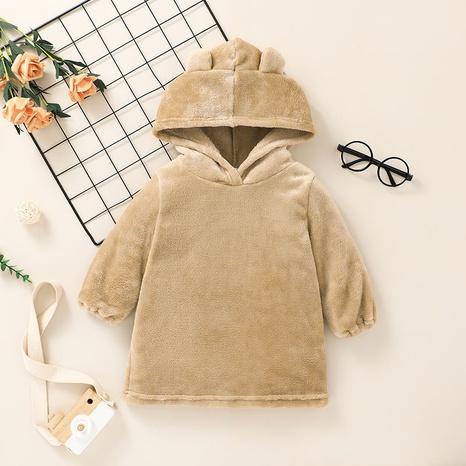 Nihaojewelry sudadera con capucha de felpa de color puro para niños de estilo coreano al por mayor NHLF384484's discount tags