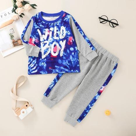 Al por mayor pantalón infantil con cuello redondo, traje de 2 piezas Nihaojewelry NHLF384488's discount tags