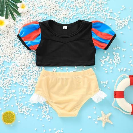 Al por mayor traje de baño de jersey para niños traje de dos piezas nihaojewelry NHLF384499's discount tags