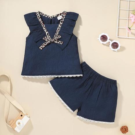 Nihaojewelry baby casual chaleco pantalones cortos conjunto de dos piezas al por mayor NHLF384503's discount tags