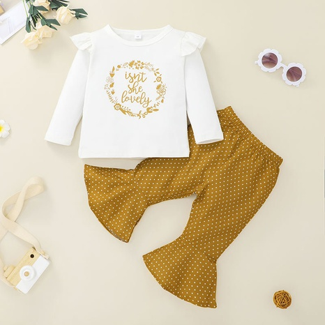 Nihaojewelry pantalones casuales de manga larga para niños, conjunto de dos piezas al por mayor NHLF384506's discount tags